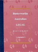 Cover of Butterworths Australian Legal Dictionary