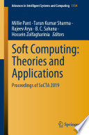 Soft Computing  Theories and Applications
