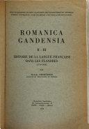 Histoire De La Langue Fran Aise Dans Les Flandres 1770 1823