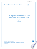 The Impact of Remittances on Rural Poverty and Inequality in China