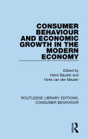 Consumer Behaviour and Economic Growth in the Modern Economy (RLE Consumer Behaviour) Pdf/ePub eBook