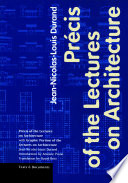Pr  cis of the Lectures on Architecture