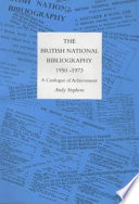 The History of the British National Bibliography
