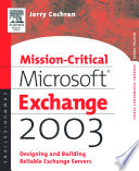 Mission Critical Microsoft Exchange 2003 Book