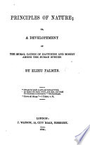 Principles of Nature  etc Book