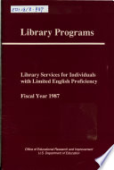 Library Services For Individuals With Limited English Proficiency