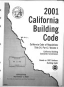 2001 California Building Code: Administrative, fire- and life-safety, and field inspection provisions
