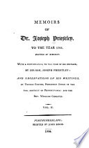 Memoirs Of Dr Joseph Priestley To The Year 1795