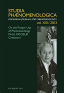 Pdf On the Proper Use of Phenomenology Telecharger