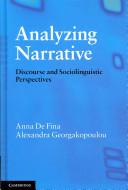 Analyzing Narrative