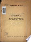 Isolation and Preliminary Identification of Escherichia Coli Serotypes Associated with Diarrheal Disease