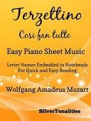 Terzettino Cosi fan tutte Easy Piano Sheet Music