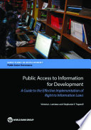 Public Access To Information For Development Book PDF