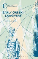 Early Greek Lawgivers