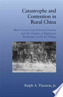 Catastrophe And Contention In Rural China Book PDF