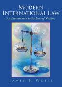 Modern International Law