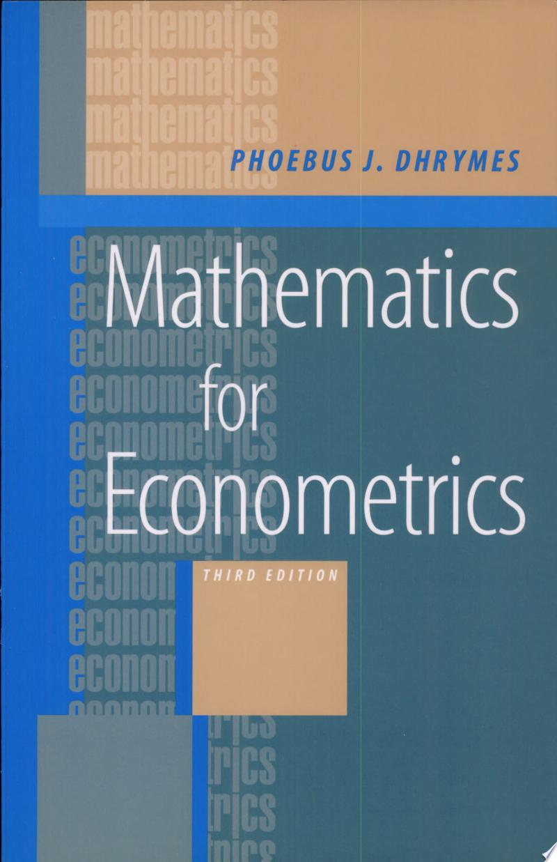 Mathematics for Econometrics banner backdrop