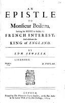 Pdf An Epistle to Monsieur Boileau