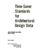 Time Saver Standards For Architectural Design Data Book PDF