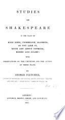Studies of Shakespeare