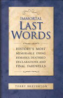 Immortal Last Words [Pdf/ePub] eBook