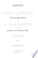 History of Essex County  Massachusetts Book