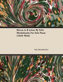 Sherzo in B Minor by Felix Mendelssohn for Solo Piano  1829  Wo02