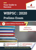 West Bengal Public Service Commission  WBPSC  Prelims 2020   5 Full Length Mock Test   Sectional Test   With Complete Solution