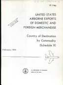 United States Airborne Exports of Domestic and Foreign Merchandise ebook