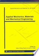 Applied Mechanics, Materials and Mechanical Engineering