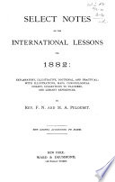 Select Notes on the International Lessons