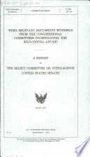 Were Relevant Documents Withheld From The Congressional Committees Investigating The Iran Contra Affair