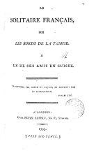Le solitaire français, sur les bords de la Tamise