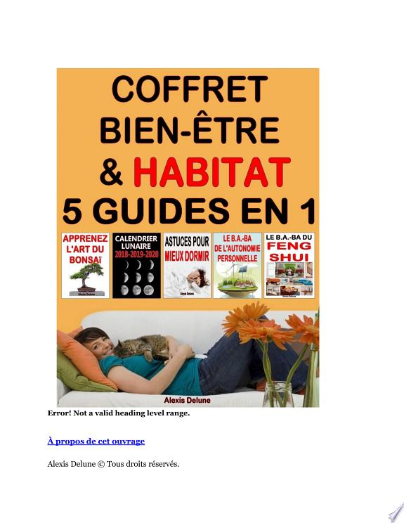 Coffret Bien-être & Habitat : 5 guides en 1