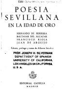 Poesia Sevillana en la Edad de Oro