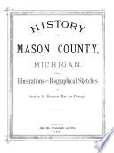 History of Mason County  Michigan Book