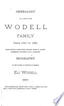 Genealogy of a Part of the Wodell Family  from 1640 to 1880