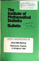 Bulletin - Institute of Mathematical Statistics