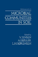 Microbial Communities in Soil Book