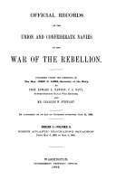Official Records of the Union and Confederate Navies in the War of the Rebellion Book