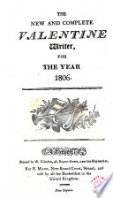 The New and Complete Valentine Writer  for the Year 1806