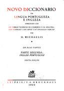 Novo Diccionario Da Lingua Portugueza E Ingleza