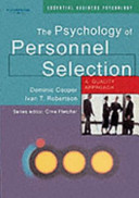 The Psychology of Personnel Selection: A Quality Approach