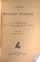 A History of Modern Europe  From 1848 to 1878