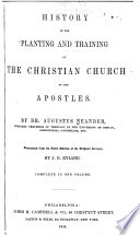 History Of The Planting And Training Of The Christian Chruch By The Apostles