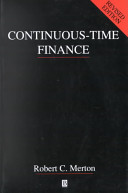 Continuous Time Finance