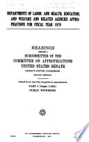 Departments of Labor and Health  Education  and Welfare and Related Agencies Appropriations for Fiscal Year 1979  Public witnesses
