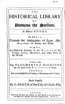 The Historical Library of Diodorus the Sicilian