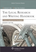 Legal Research and Writing Handbook