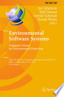 Environmental Software Systems Computer Science For Environmental Protection